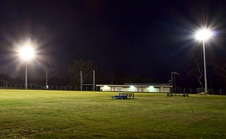 Sports fields at night