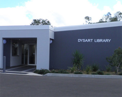 Dysart library entrance outdoors