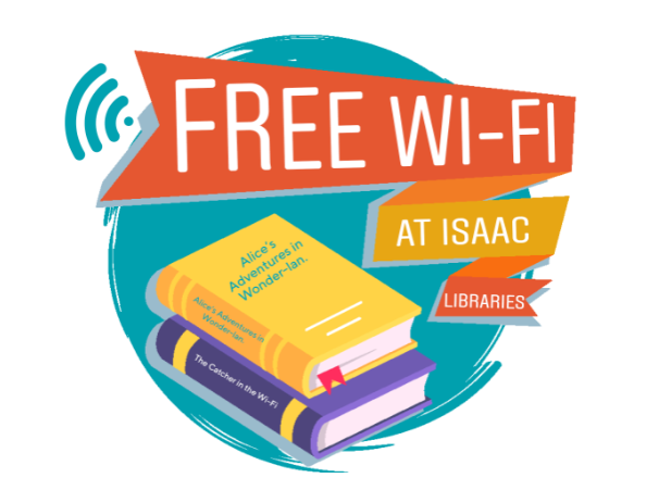 Free Wi-Fi at Isaac Libraries