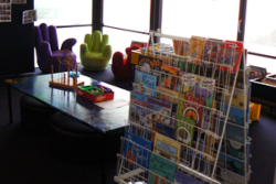 Glenden library indoors - Kids Bookshelf