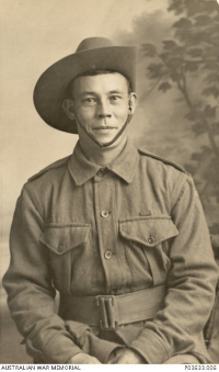 Picture of Private william edward sing of 31st battalion of clermont queensland who enlisted on 26 october 1914 and returned to australia on 21 july 1918