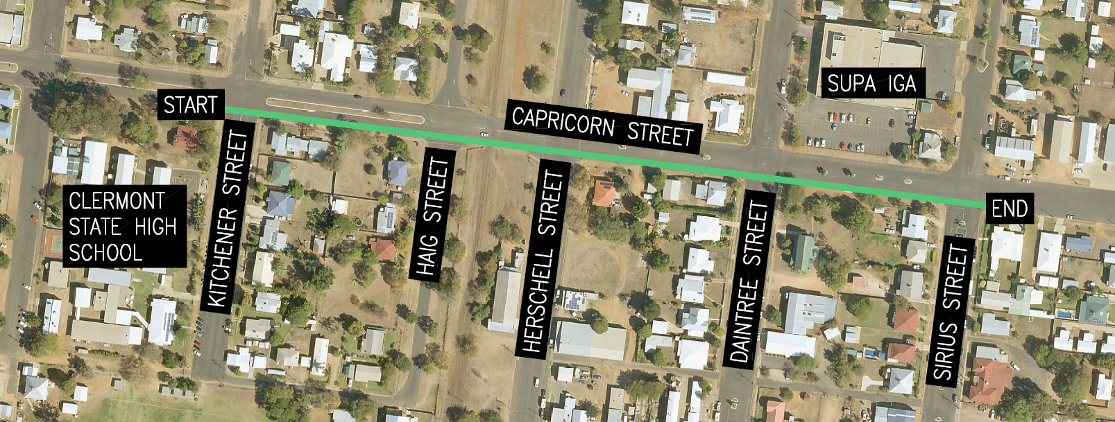 Capricorn street cycle track