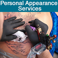 Personal Appearance tile - tattoo artist working on a client